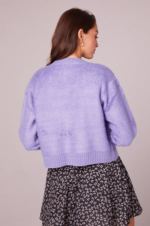 Hopkins Lavender Button Up Cardigan Back