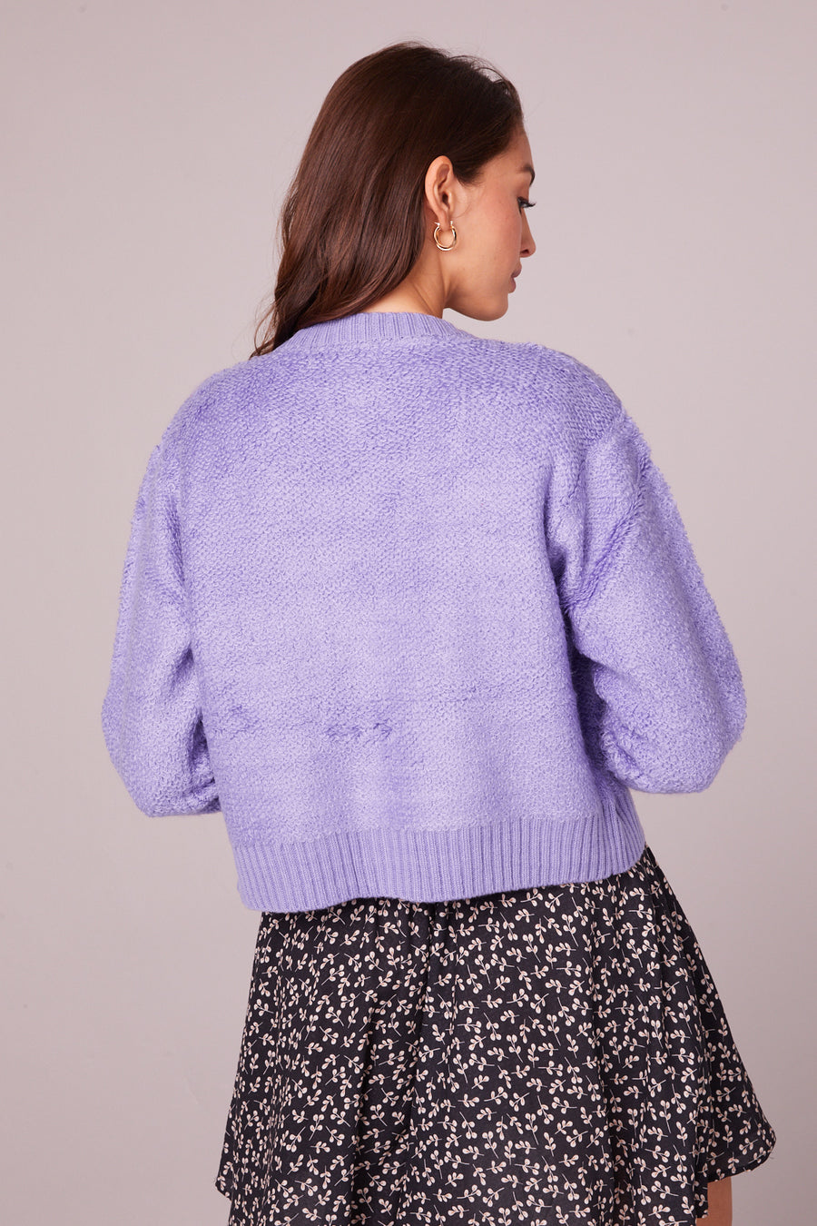 Hopkins Lavender Button Up Cardigan Master
