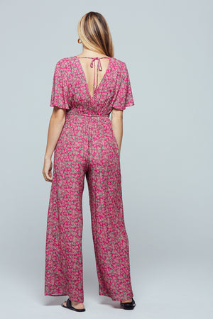 Ibiza Floral Cut-Out Jumpsuit Back