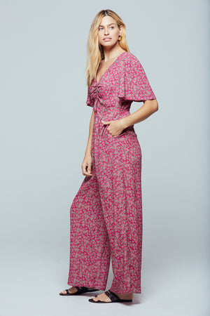 Ibiza Floral Cut-Out Jumpsuit Side