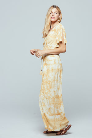 Indio Gold Tie Dye Split-Leg Pants Side