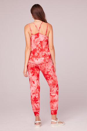 Jaime Red Tie Dye Jogger Pant Back