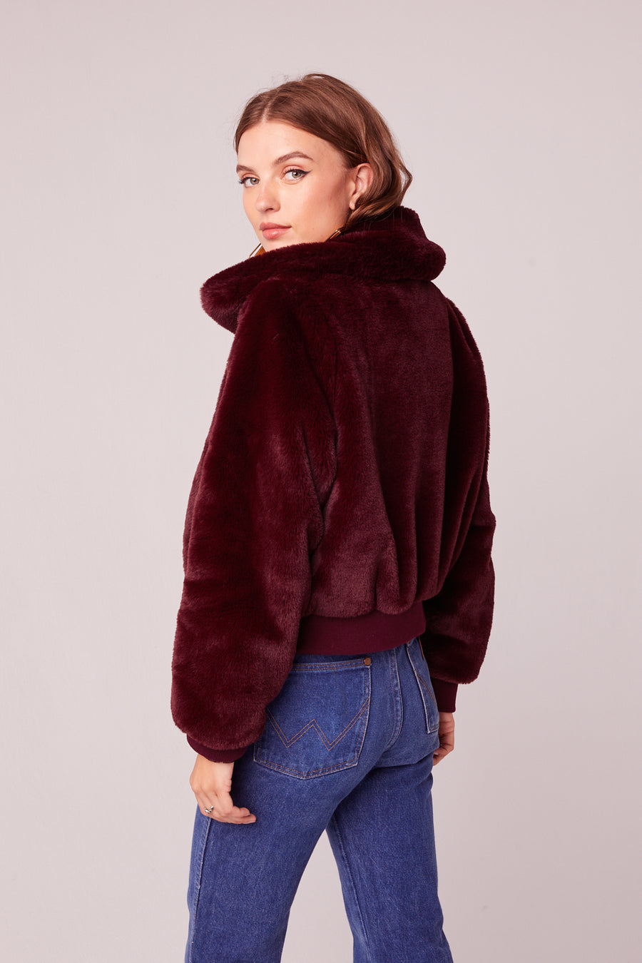 Je T'Adore Faux Fur Bomber Jacket Master