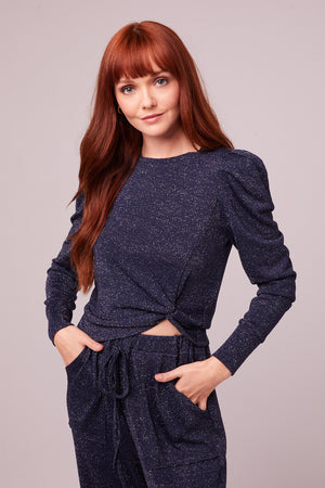 Jeanette Midnight Shimmer Long Sleeve Top Master