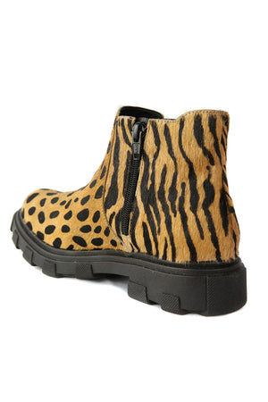 Jonny Tan Animal Print Chelsea Bootie Back