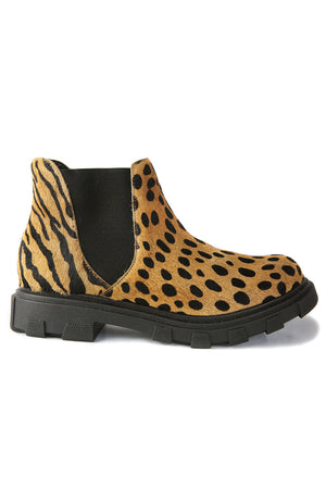 Jonny Tan Animal Print Chelsea Bootie Side