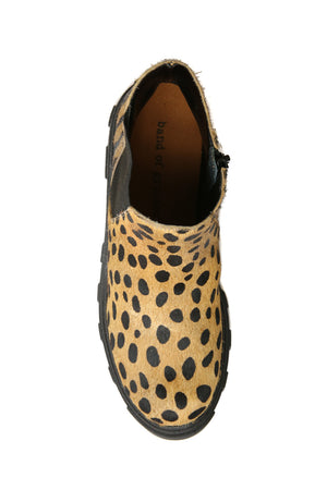 Jonny Tan Animal Print Chelsea Bootie Top