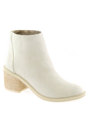 Juno Brushed Satin White Ecru Booties Master
