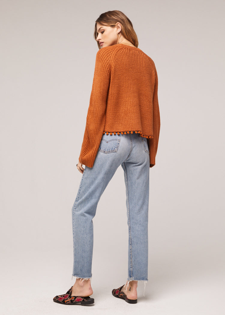 Cayden Bell Sleeve Tasseled Sweater Back