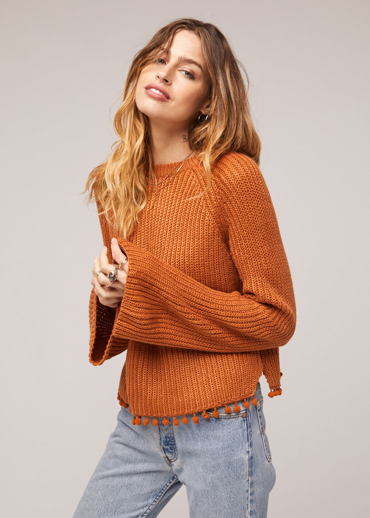 Cayden Bell Sleeve Tasseled Sweater Side