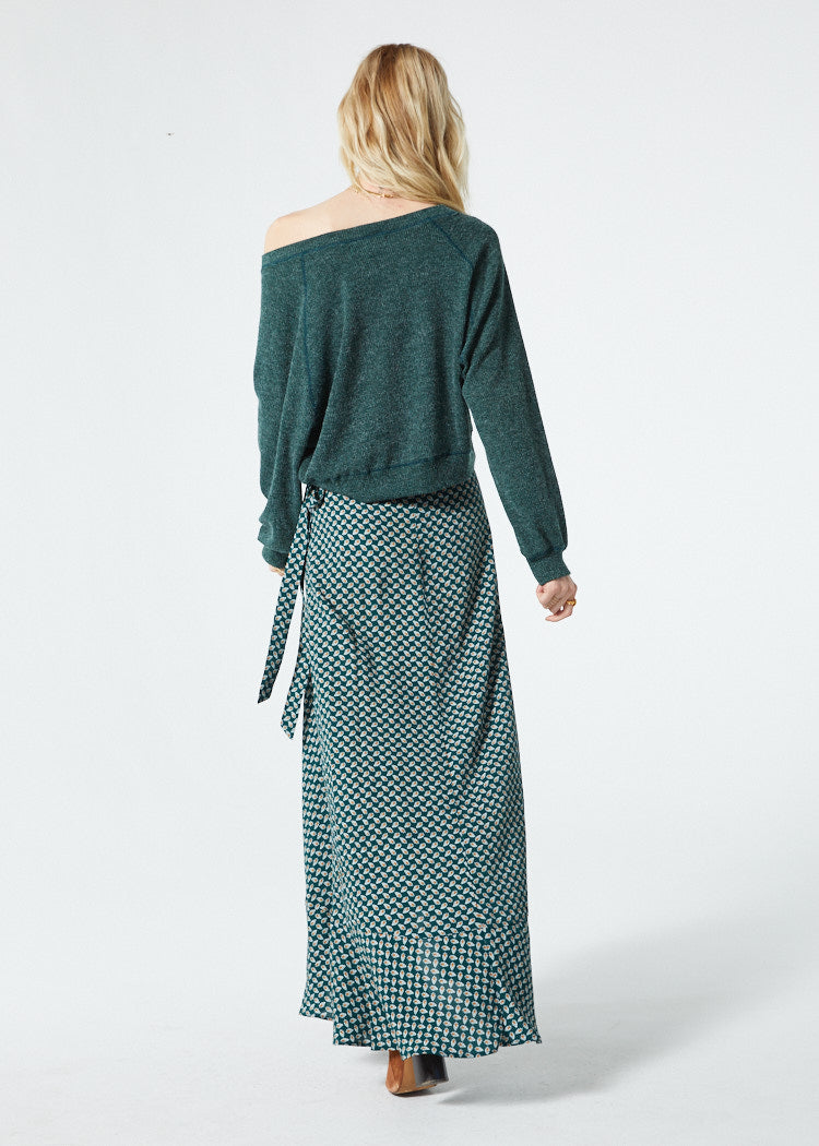Corinna Forest Green Sweater Back