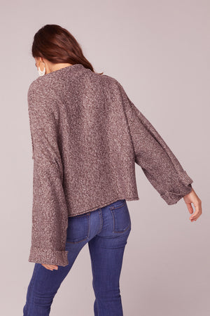 Kashmir Rolled Mock Neck Sweater Back