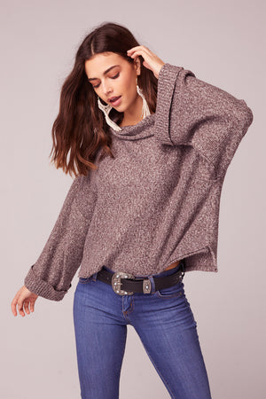 Kashmir Rolled Mock Neck Sweater Master