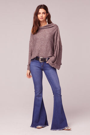 Kashmir Rolled Mock Neck Sweater Front