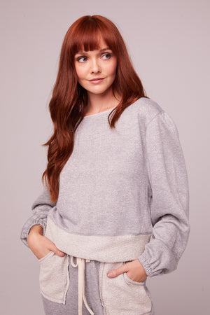 Kerr Heather Gray Shimmer Pullover Sweatshirt Master