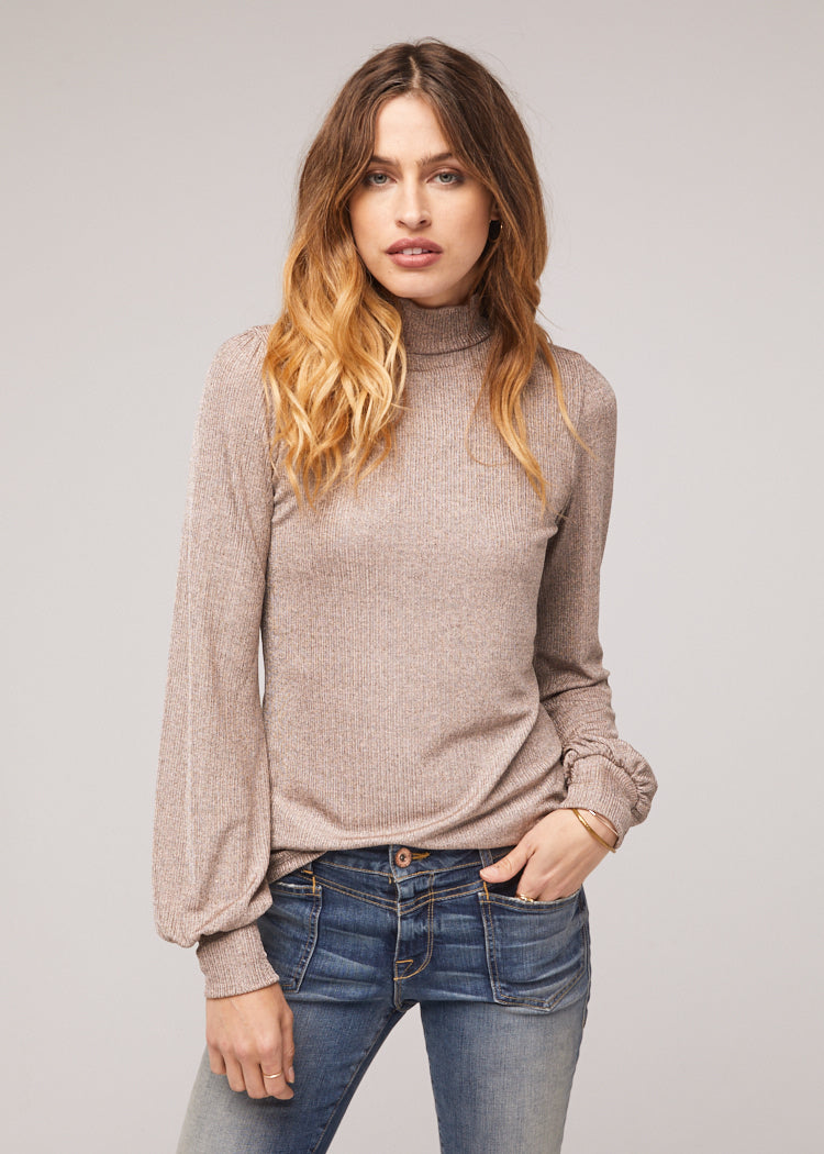 Kiley-Mock-Neck-Dusty-Silver-Top-Front