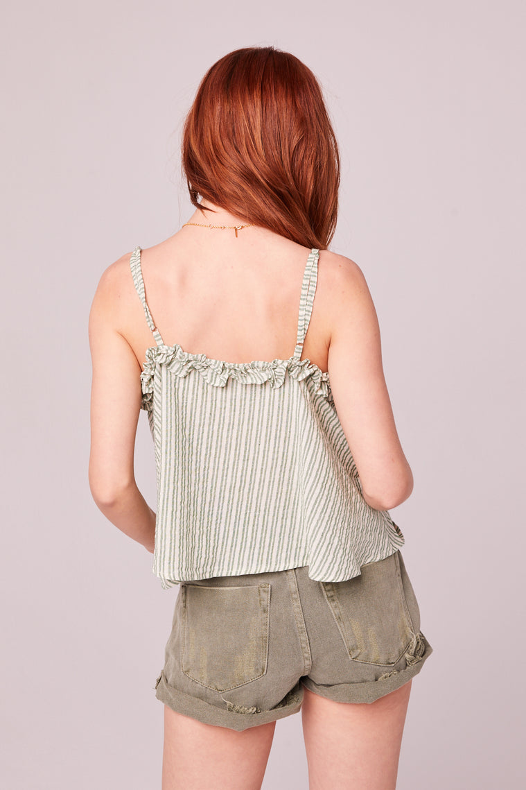 Koh Samui Green Stripe Crop Top Back2