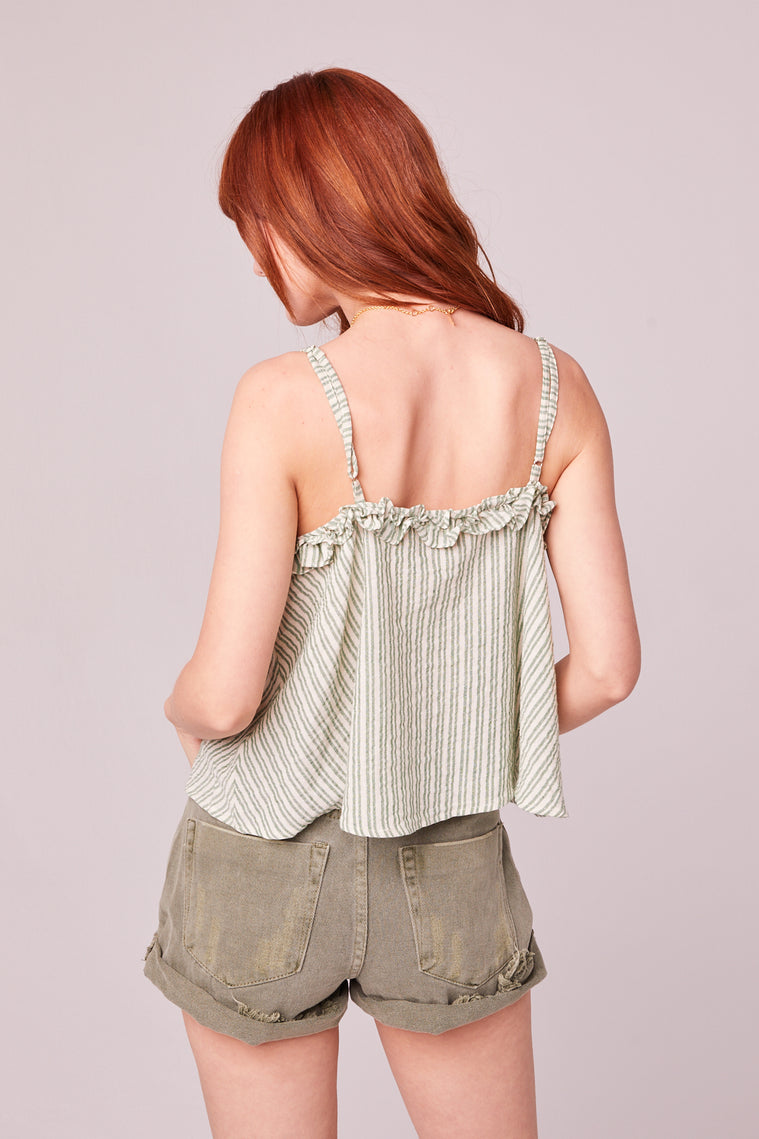 Koh Samui Green Stripe Crop Top Back