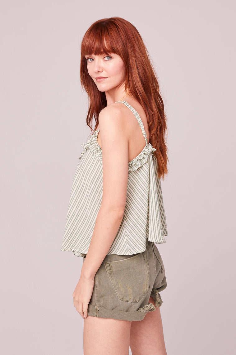 Koh Samui Green Stripe Crop Top Side