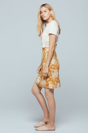 Kona Floral Print Mini Skirt
