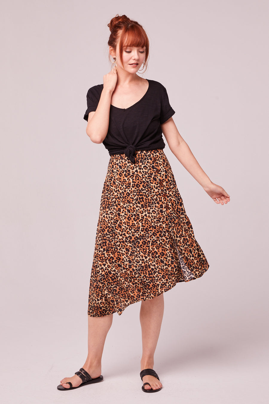Bronzite Animal Print Skirt