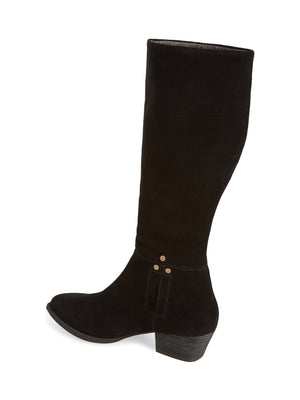 Larkspur Black Suede Knee High Boot Back