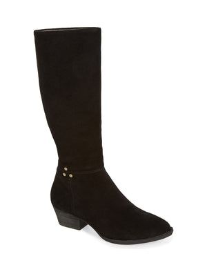 Larkspur Black Suede Knee High Boot
