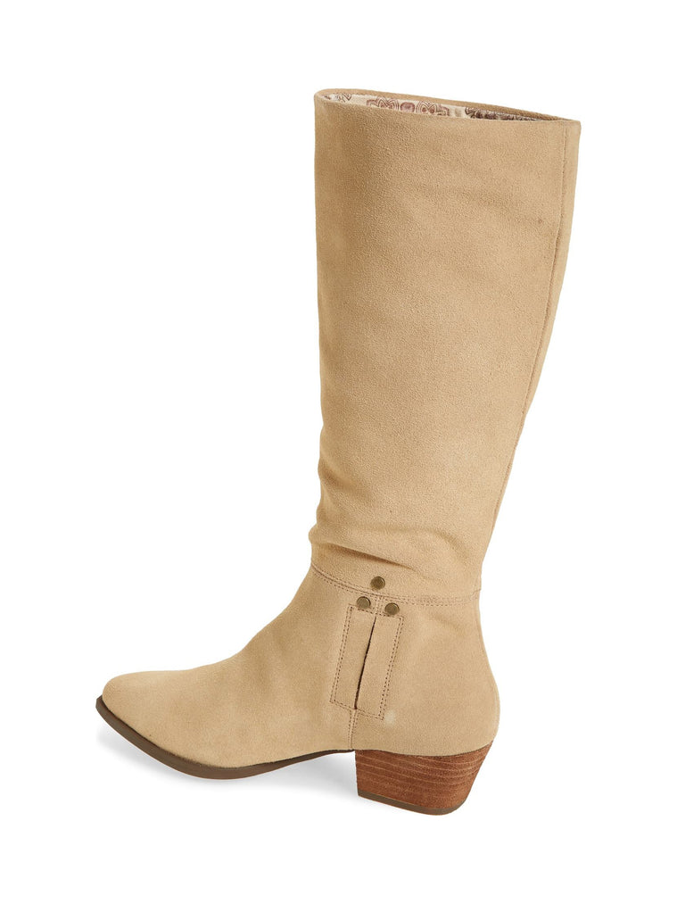 Larkspur Natural Suede Knee High Boot Back
