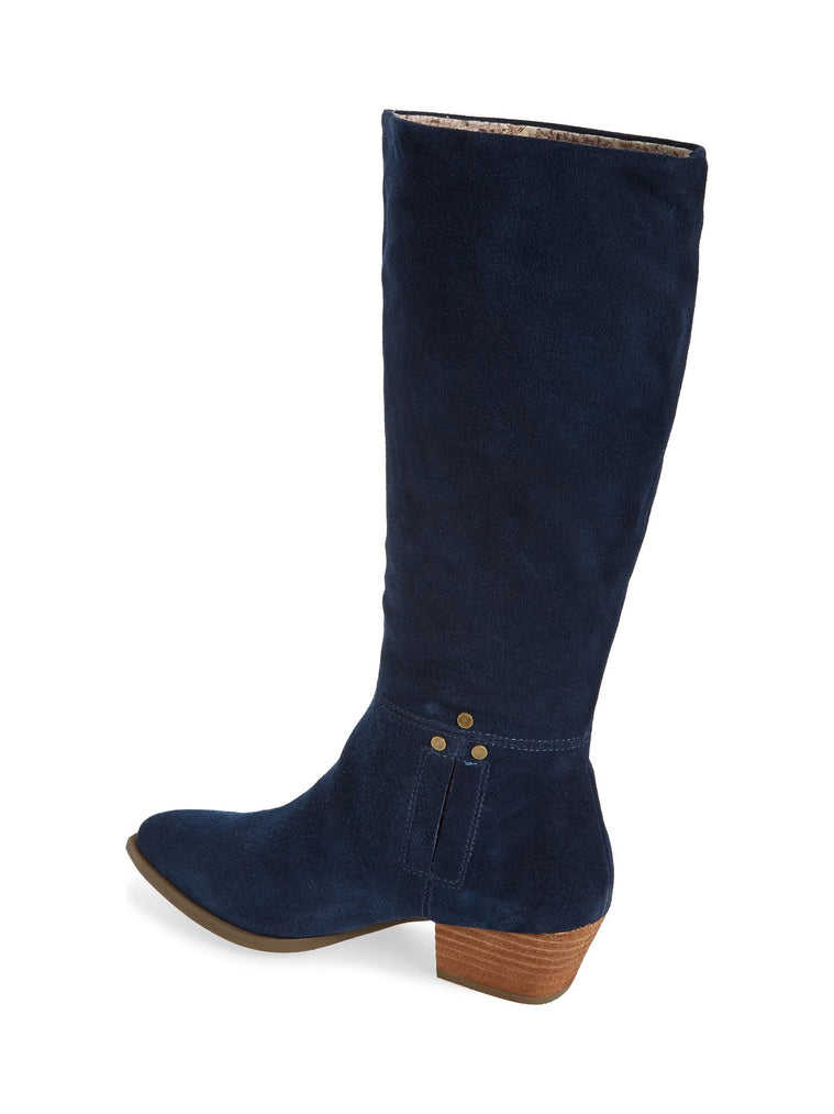 Larkspur Navy Suede Knee High Boot Back
