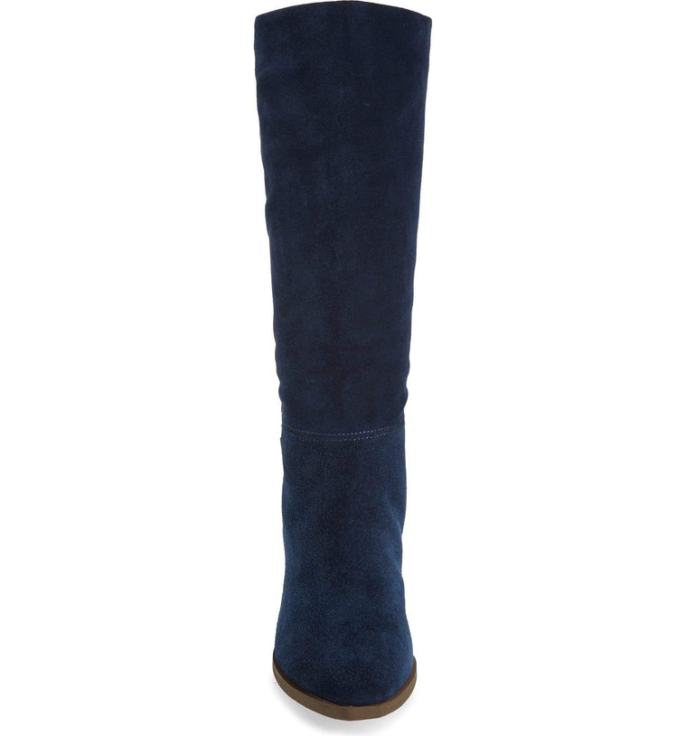 Larkspur Natural Suede Knee High Boot