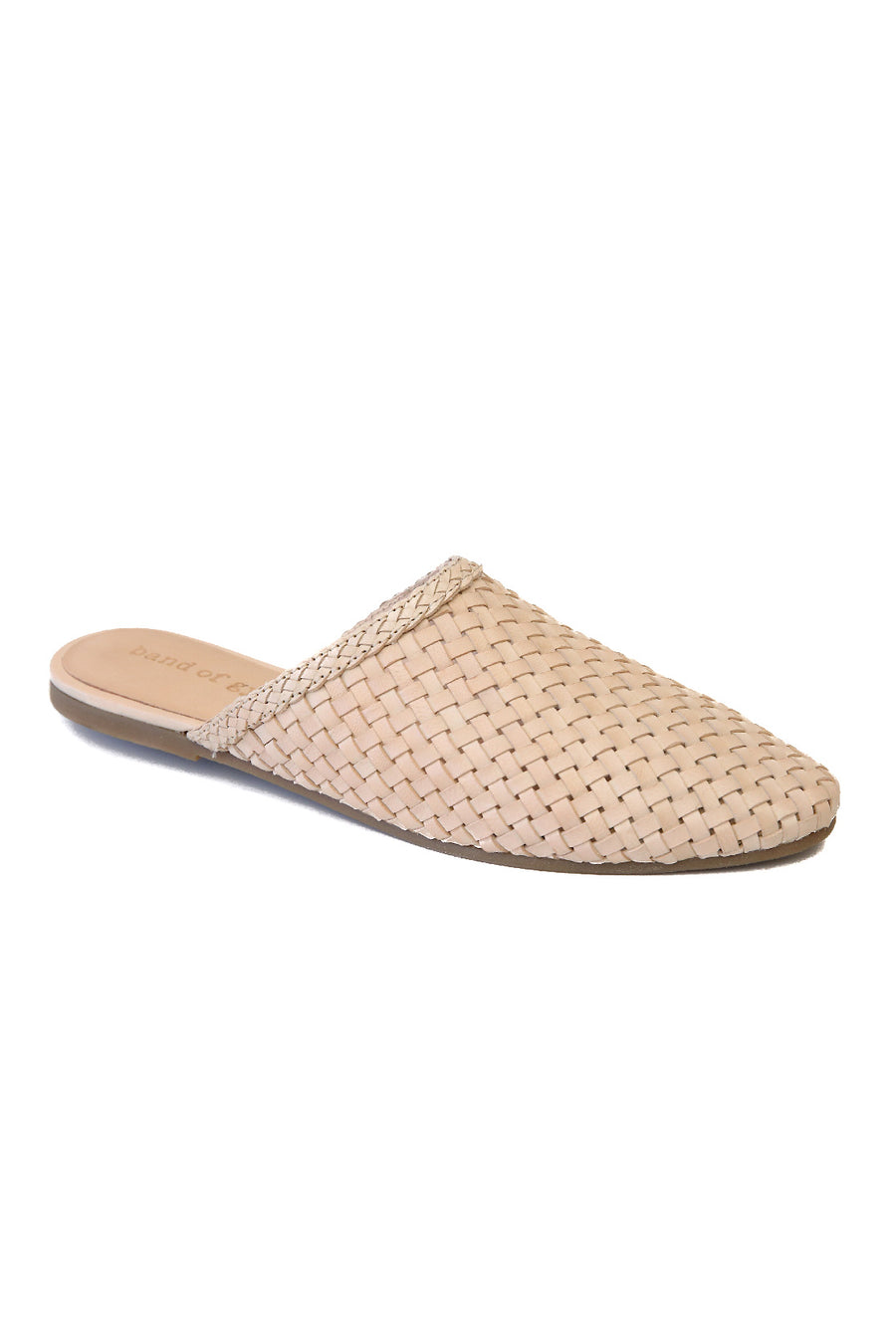 Litha Natural Leather Woven Mule Master