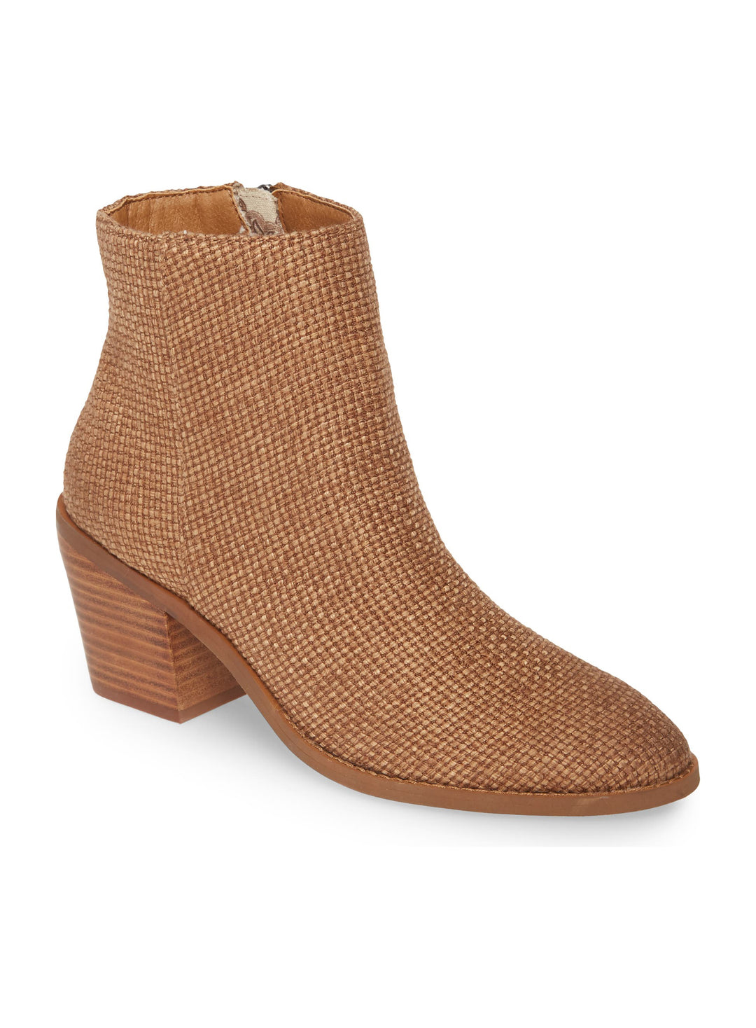 Loveland Brown Woven Jute Canvas Bootie