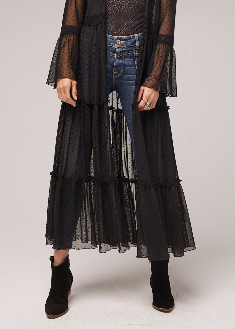 Lucia-Black-Ruffled-Sheer-Duster-Close