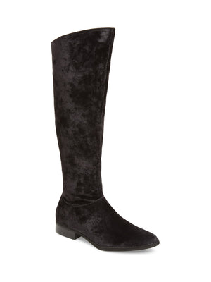 Luna Black Suede Velvet Knee High Boot