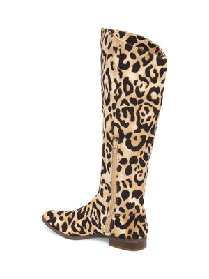 Luna Leopard Print Knee High Boot Back