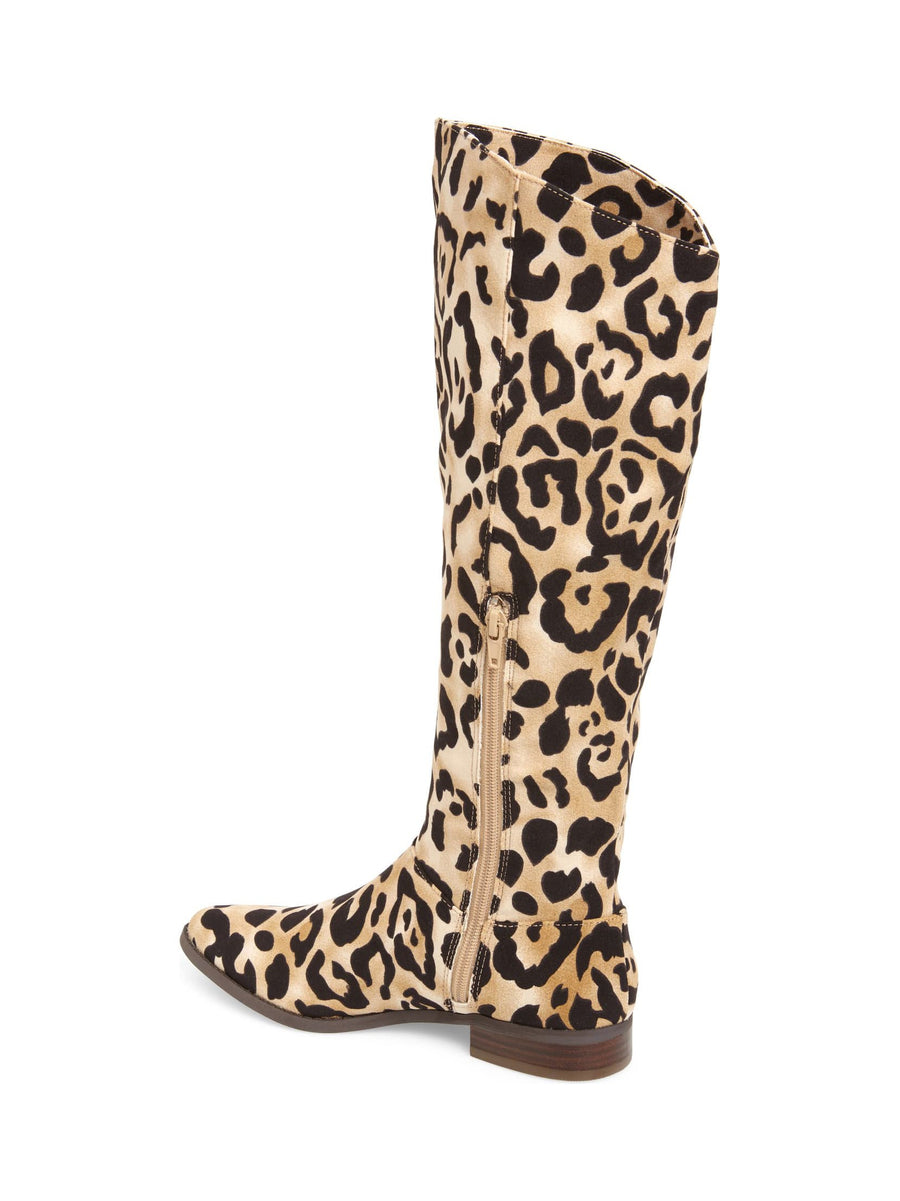 Luna Leopard Print Knee High Boot