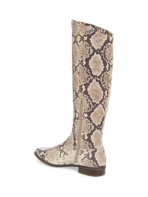 Luna Snake Skin Print Knee High Boot Back