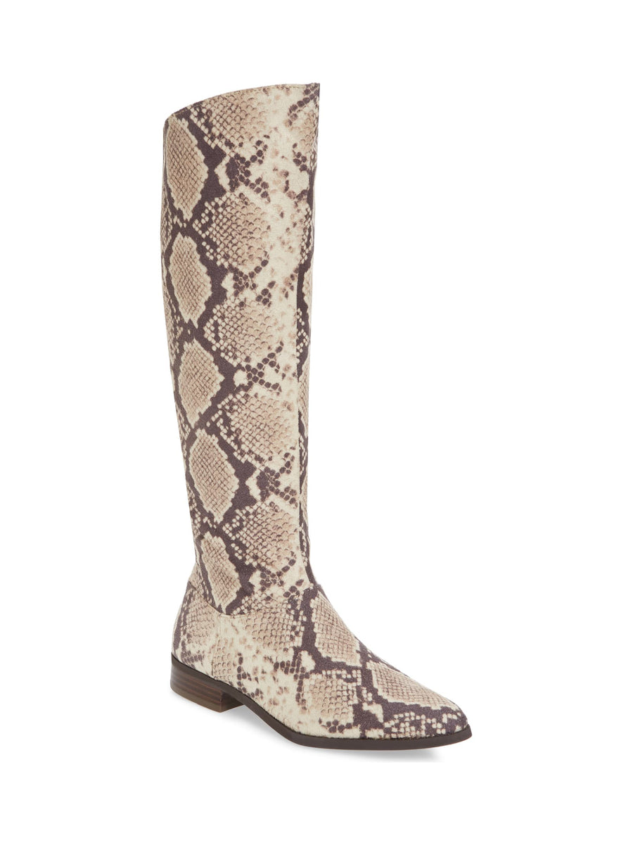 Luna Snake Skin Print Knee High Boot