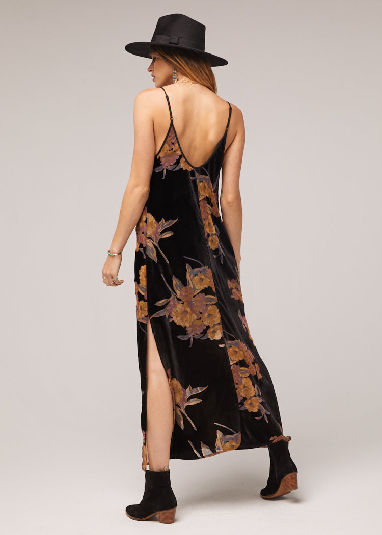 Mallorey Velvet Floral Maxi Dress