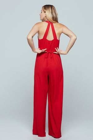 Manila Wide Leg Jumpsuit Back