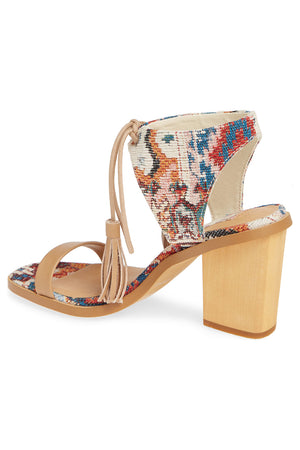 Margarita Vegan Tapestry Canvas Tie Up Sandal Back