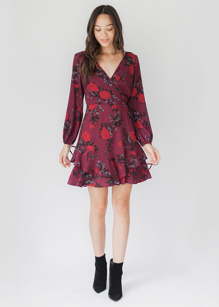 Mariah Floral Wrap Dress