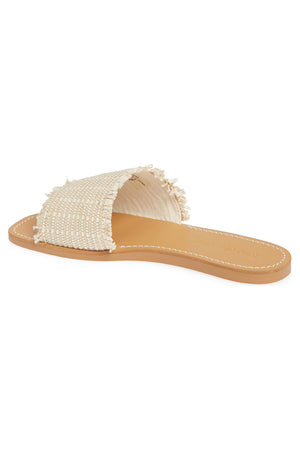 Marina Natural Woven Jute Slide Sandal Back
