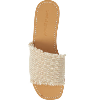Marina Natural Woven Jute Slide Sandal Top