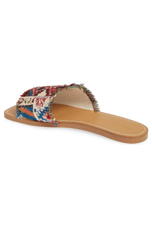 Marina Tapestry Woven Canvas Slide Sandal
