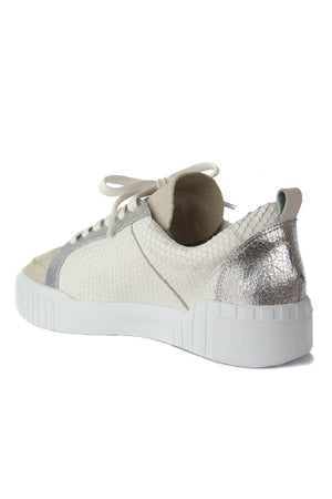 Mars Natural Snake Effect Platform Sneaker Back