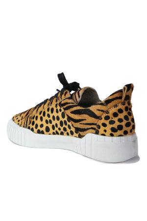 Mars Tan Animal Print Platform Sneaker Back