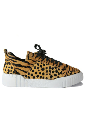 Mars Tan Animal Print Platform Sneaker Side