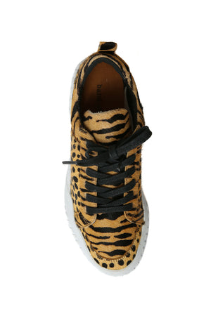 Mars Tan Animal Print Platform Sneaker Top