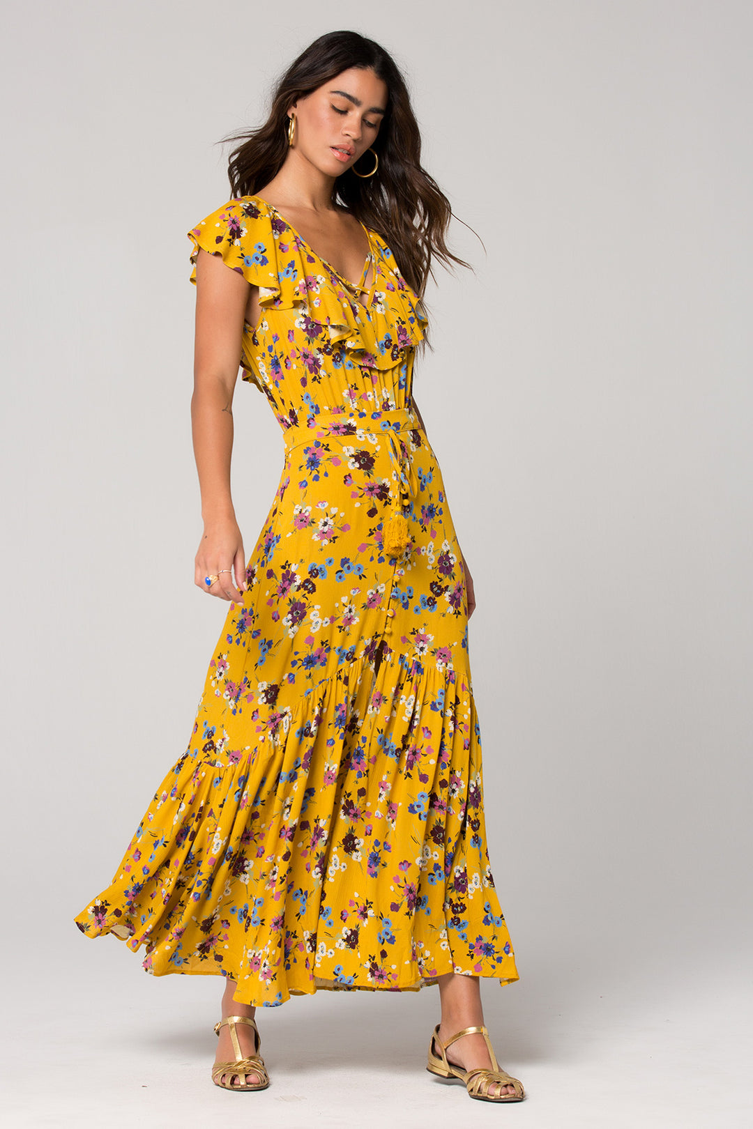 Marseille Button Down Floral Maxi Skirt Master